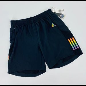 Woman's Black Adidas Own The Run Shorts Size Med